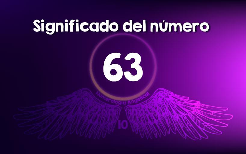 Significado del número 63