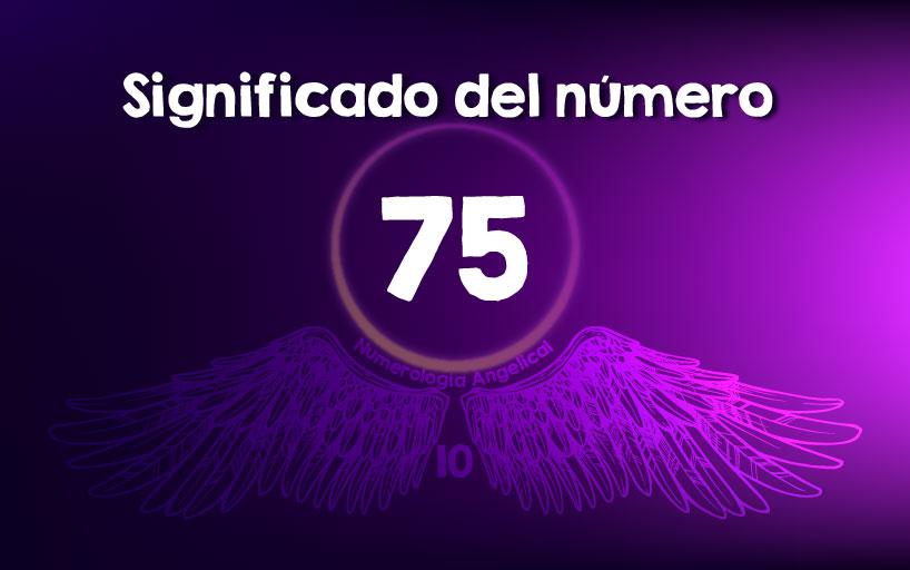 Significado del número 75