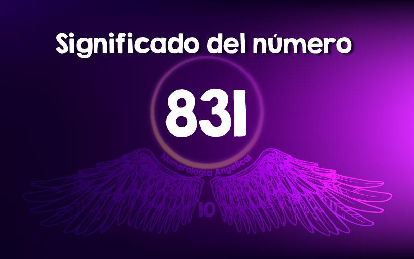 Significado del número 831
