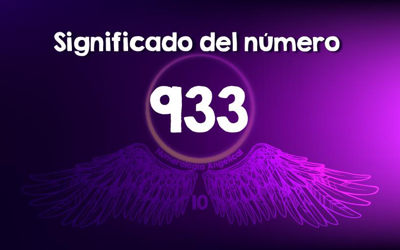 Significado del número 933