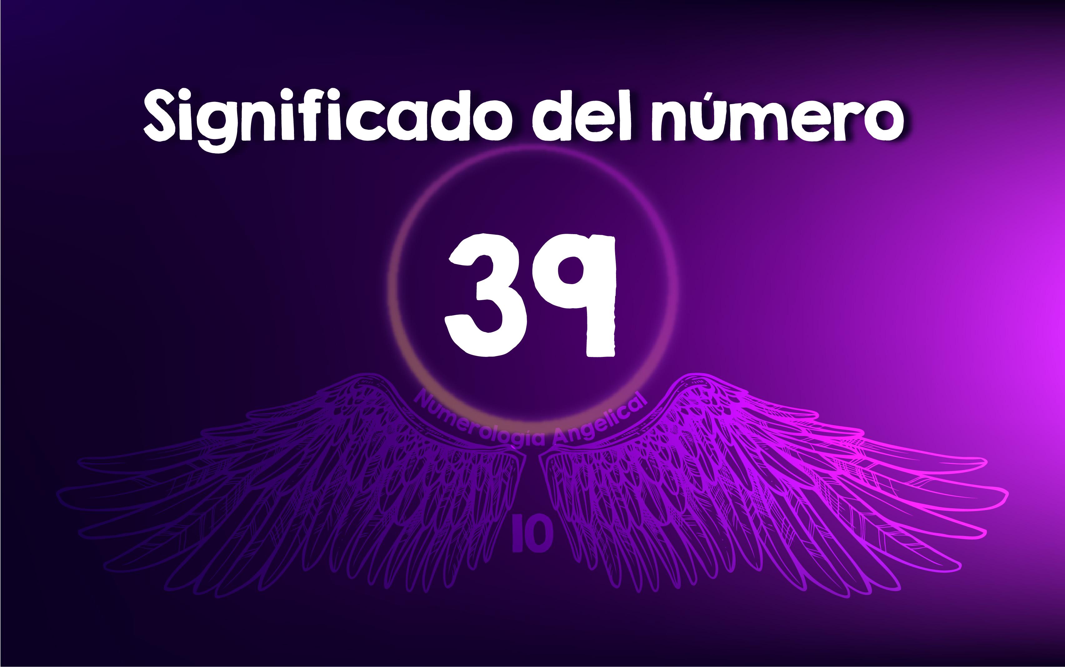 Significado del número 39