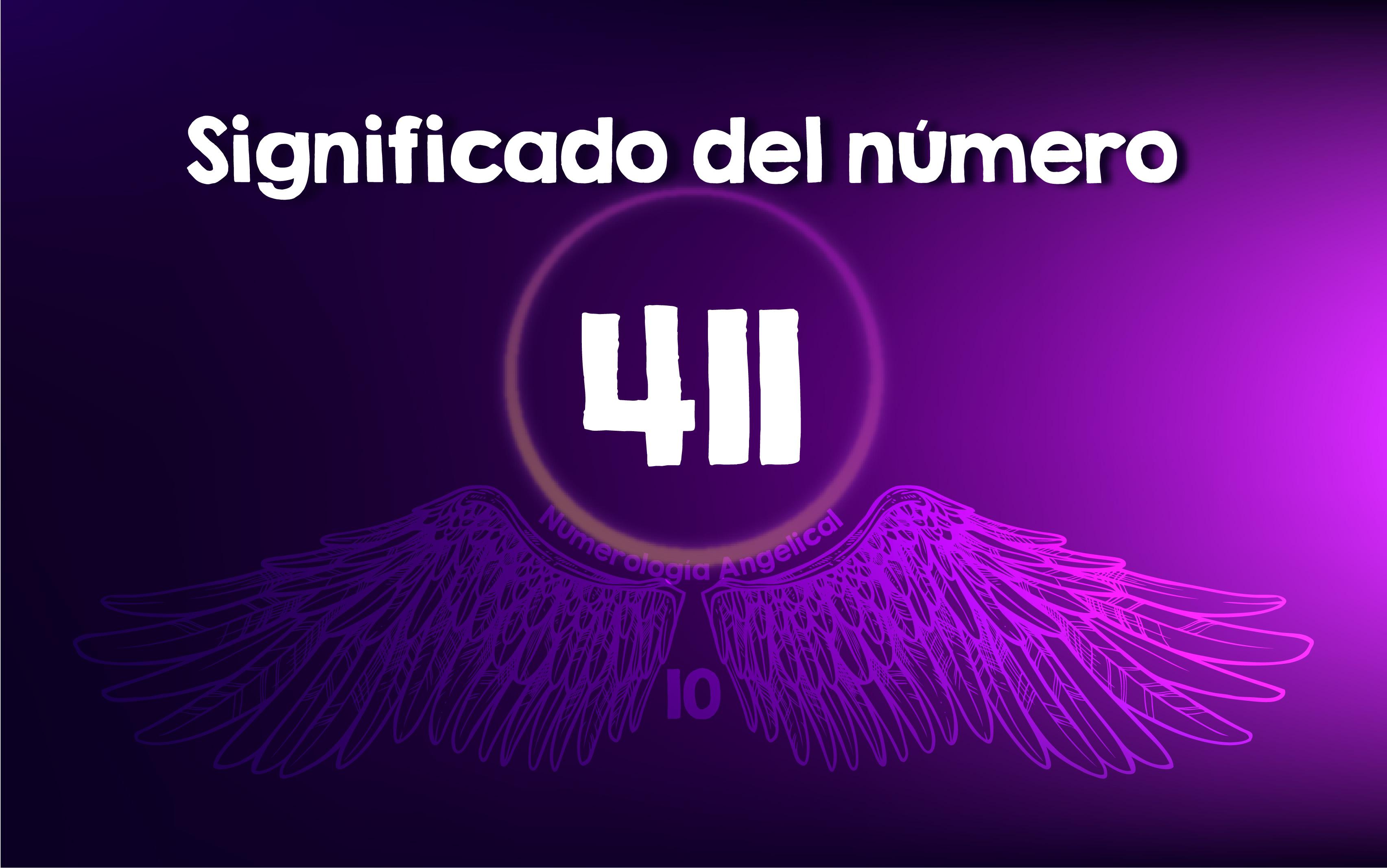 Significado del número 411