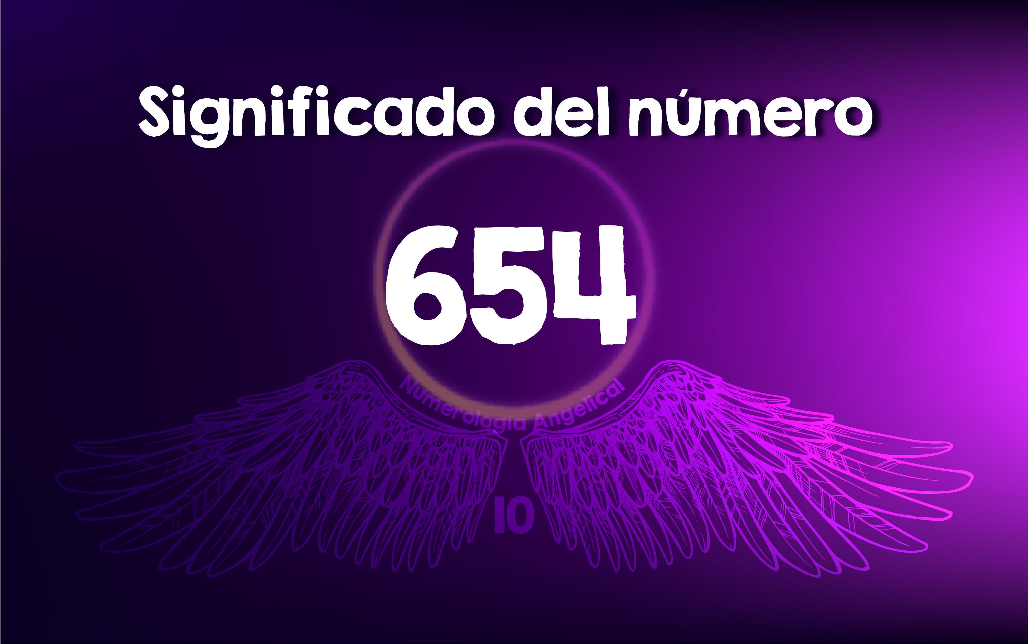 Significado del número 654