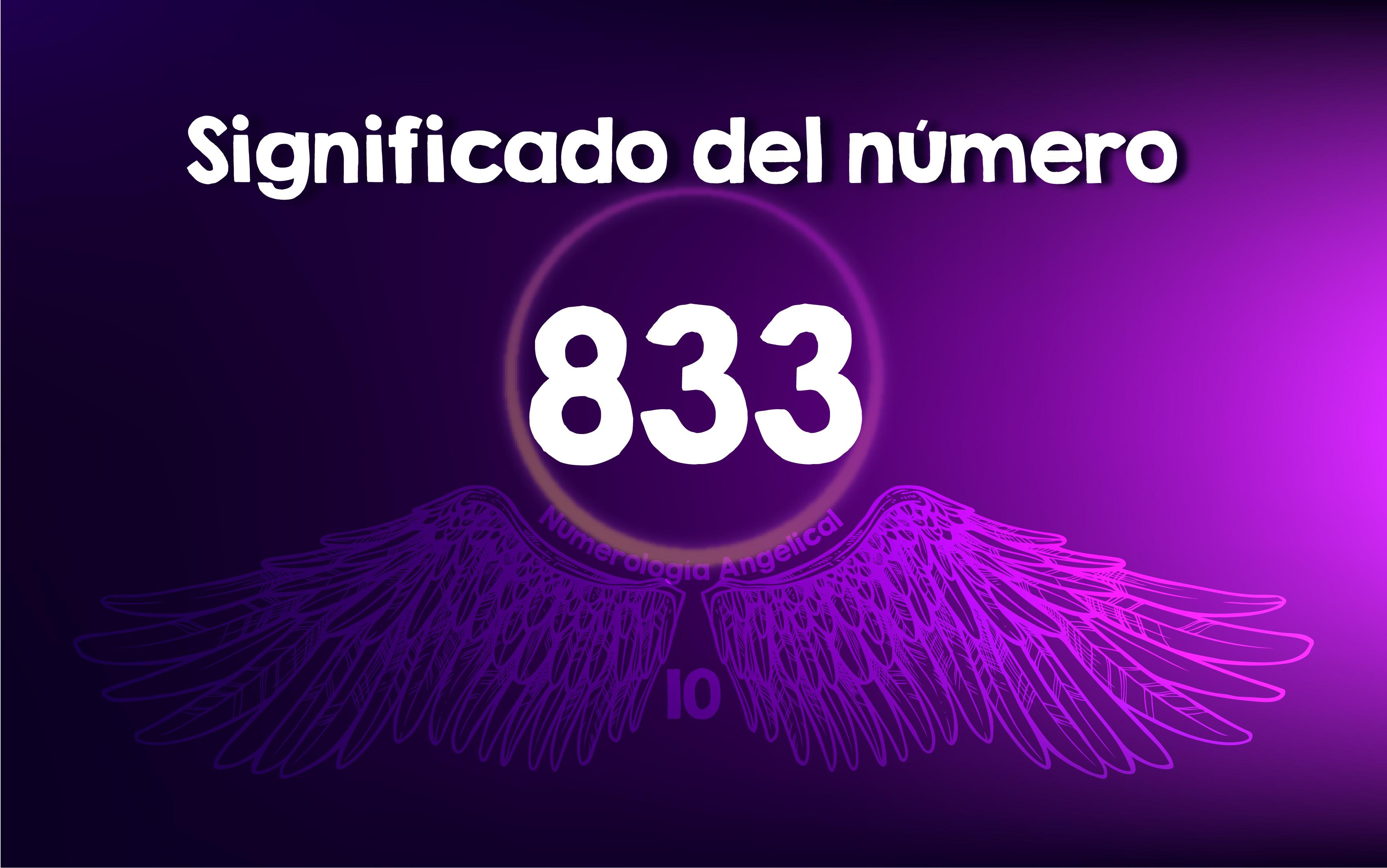 Significado del número 833