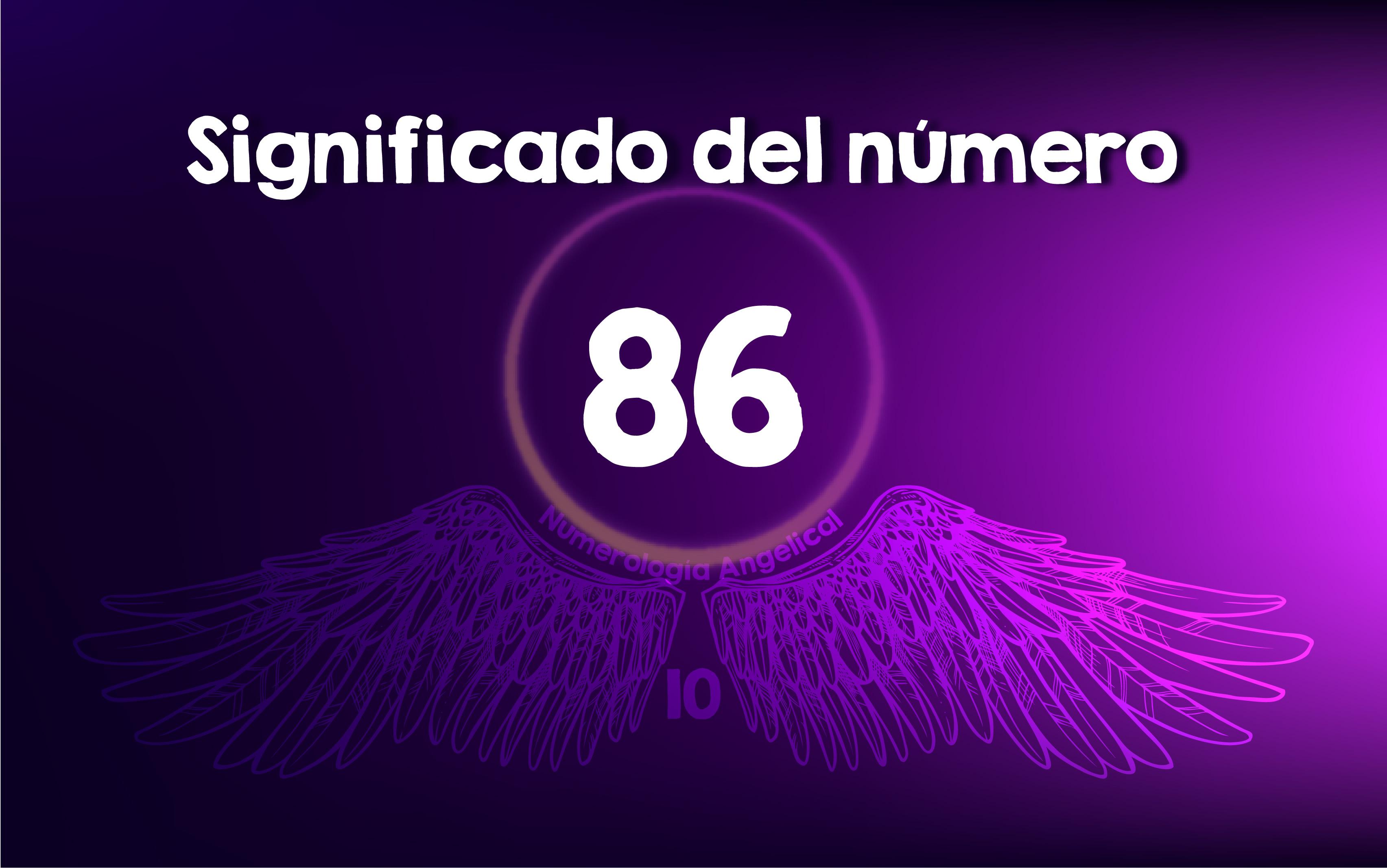 Significado del número 86